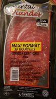 Oriental viandes chorizo 30 tranches - Informations nutritionnelles - fr