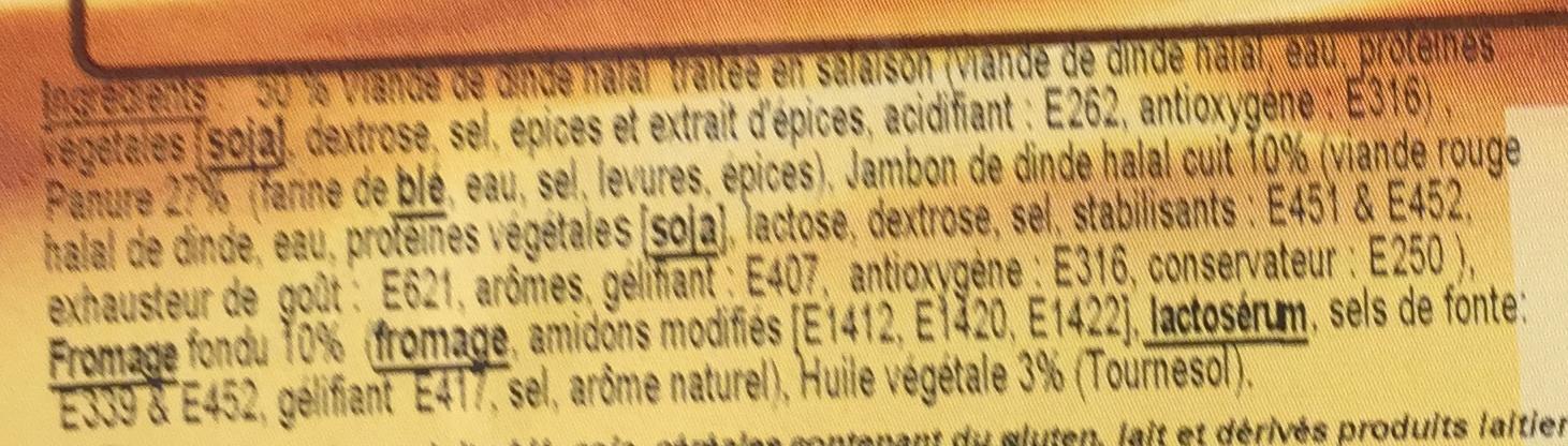 Cordon bleu de dinde Halal cuit - Ingrediënten - fr