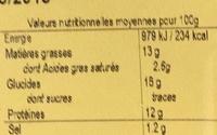 Cordon bleu de dinde Halal cuit - Voedingswaarden - fr