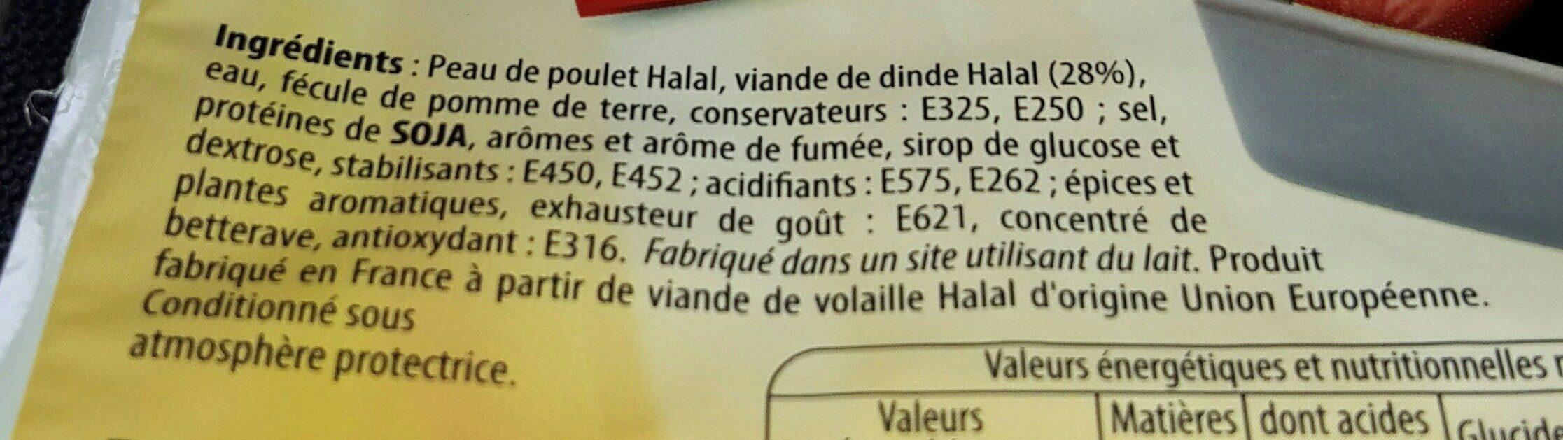 El Saada Mini Saucisses Orientales Halal 400g - Ingrédients