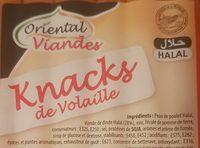 El Saada knacks de volaille - Ingrediënten