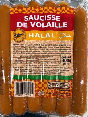 Saucisses de volaille Halal - Produit
