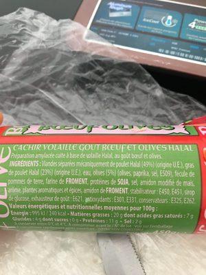 Cachir volaille - Ingrediënten