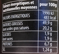 Bloc de Foie gras de canard - Nutrition facts - fr