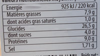 Club poulet mayonnaise & fines herbes - Informations nutritionnelles - fr