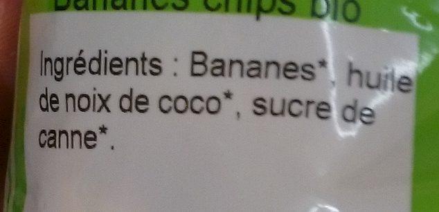 Bananes Chips - Ingrédients - fr