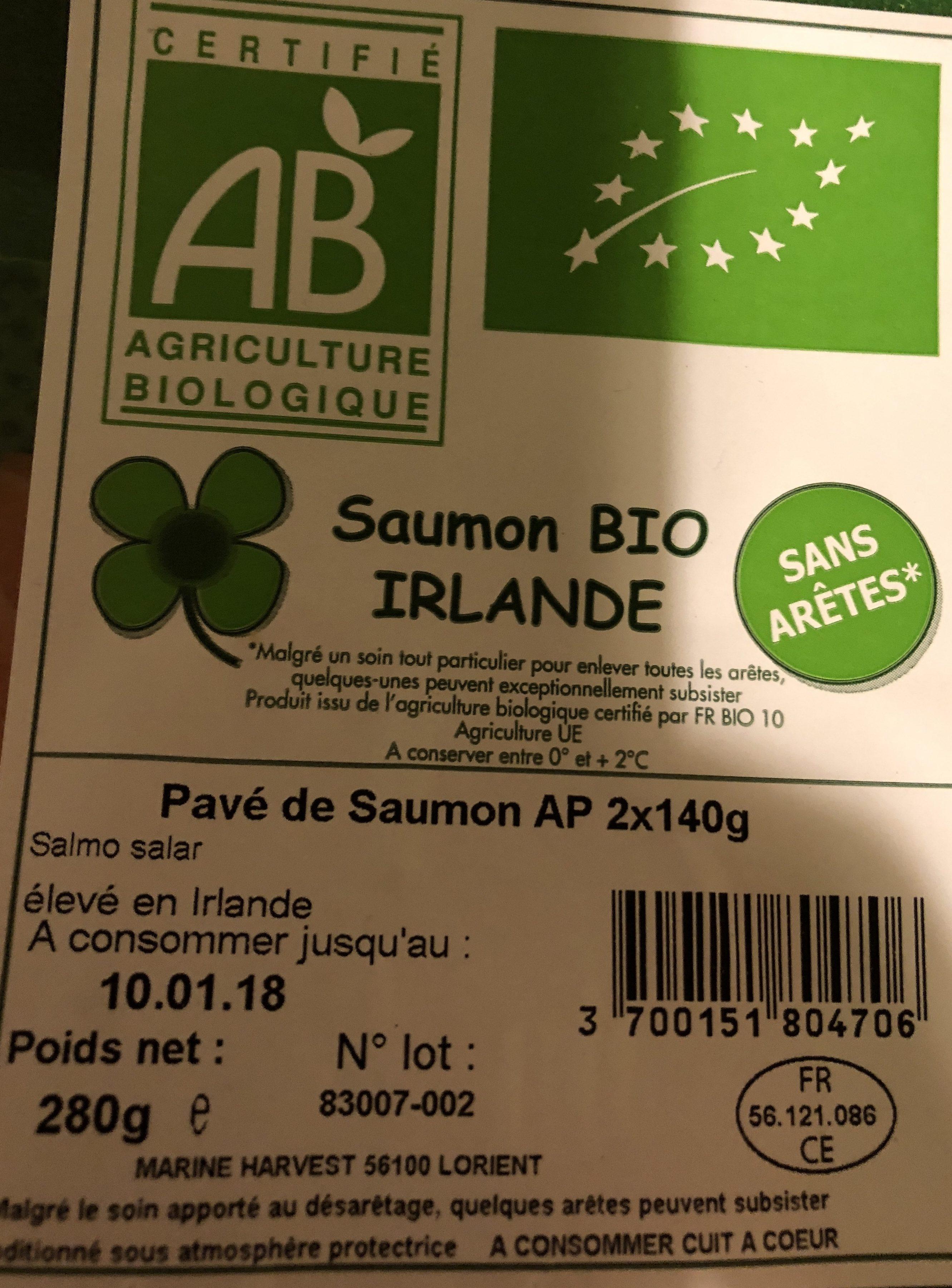 Saumon bio Irlande - Ingrediënten