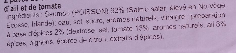 Braserade de saumon à la provençale - Ingrédients - fr