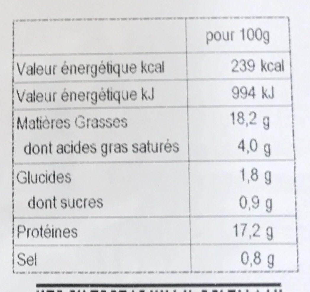 Délices au Four déjà préparé - Informations nutritionnelles