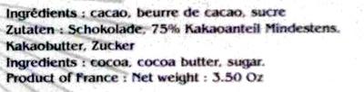 Chocolat Bonnat Equateur - Ingredients - fr