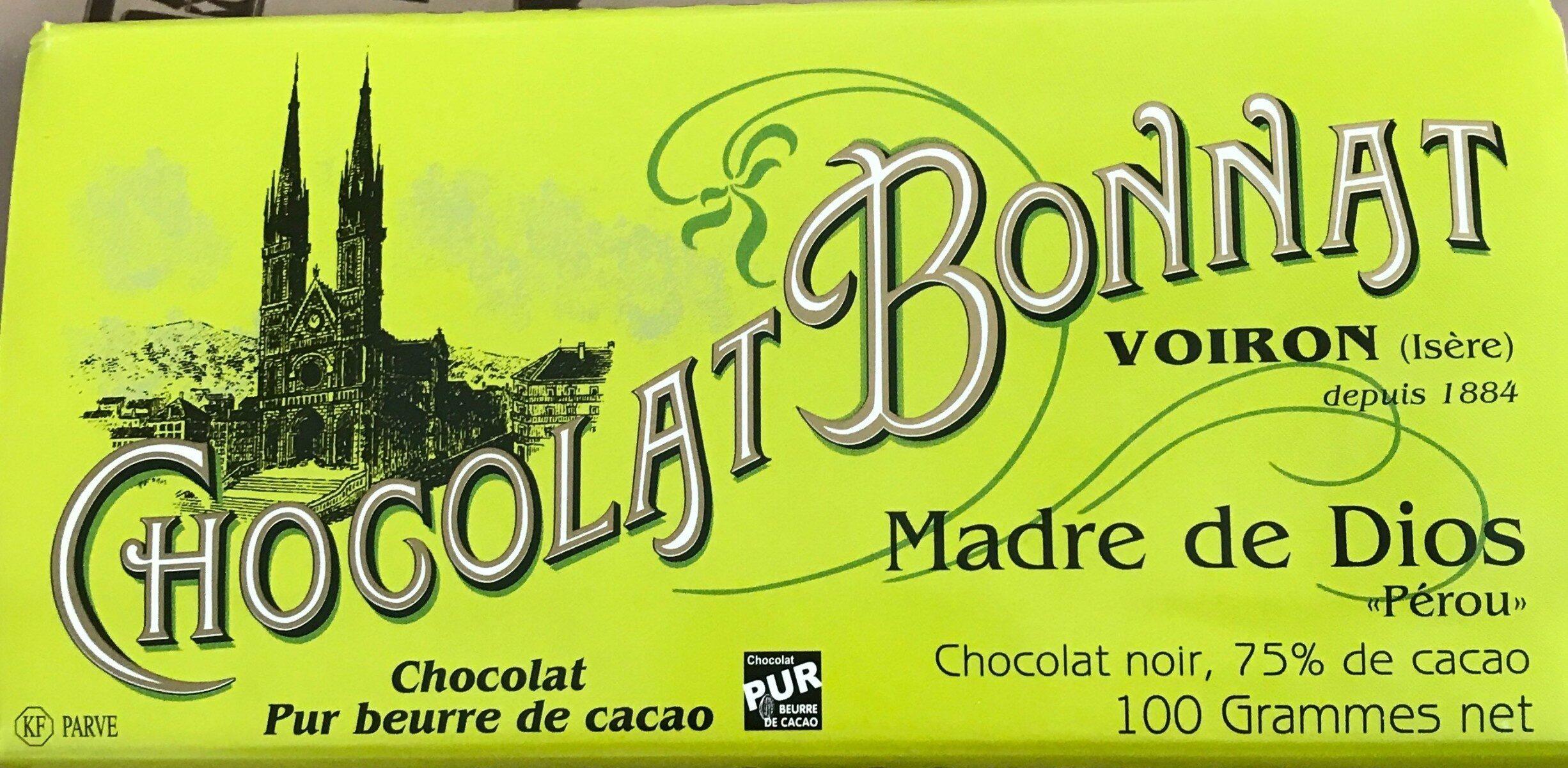Chocolat Bonnat Pérou - Produit - fr