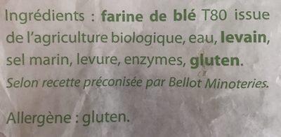 Baguette de pain - Ingredients