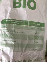 Baguette de pain - Nutrition facts