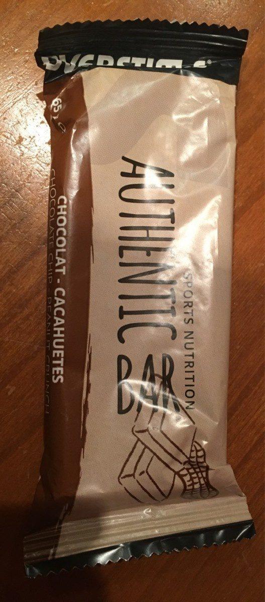 Authentic Bar - Saveur Chocolat Cacahuètes - 65GR - Overstims - Produit - fr