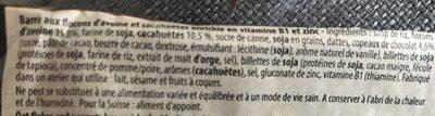 Authentic Bar - Saveur Chocolat Cacahuètes - 65GR - Overstims - Ingrédients - fr