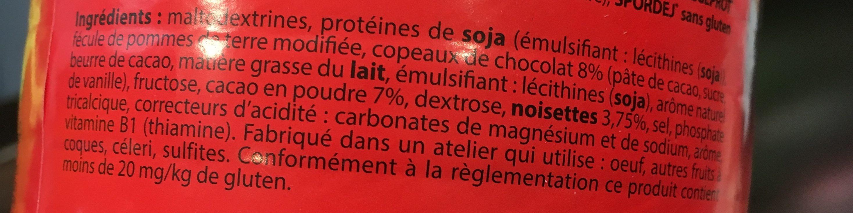 Spordej - Ingrediënten - fr