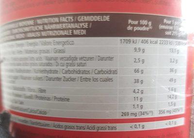 Gatosport Overstim's - chocolat - Voedigswaarden