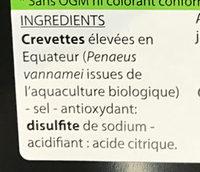 Crevettes bio - Ingrédients