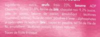 Cake Nature & Chocolat - Ingrediënten