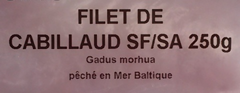 Filet de cabillaud désarêté - Ingrediënten - fr