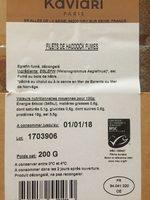 Filets de haddock fumes - Ingredients