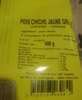 Pois Chiche Jaune Grillé - Ingredients - fr