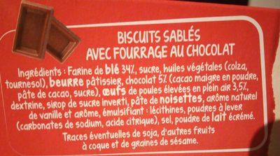 Crousty Buns cœur chocolat - Ingrédients