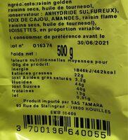 Mélange top fruits - Voedingswaarden - fr