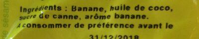 Banane chips - Ingrediënten