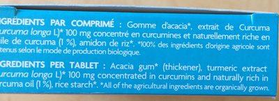 Curcuma plus - Ingrediënten