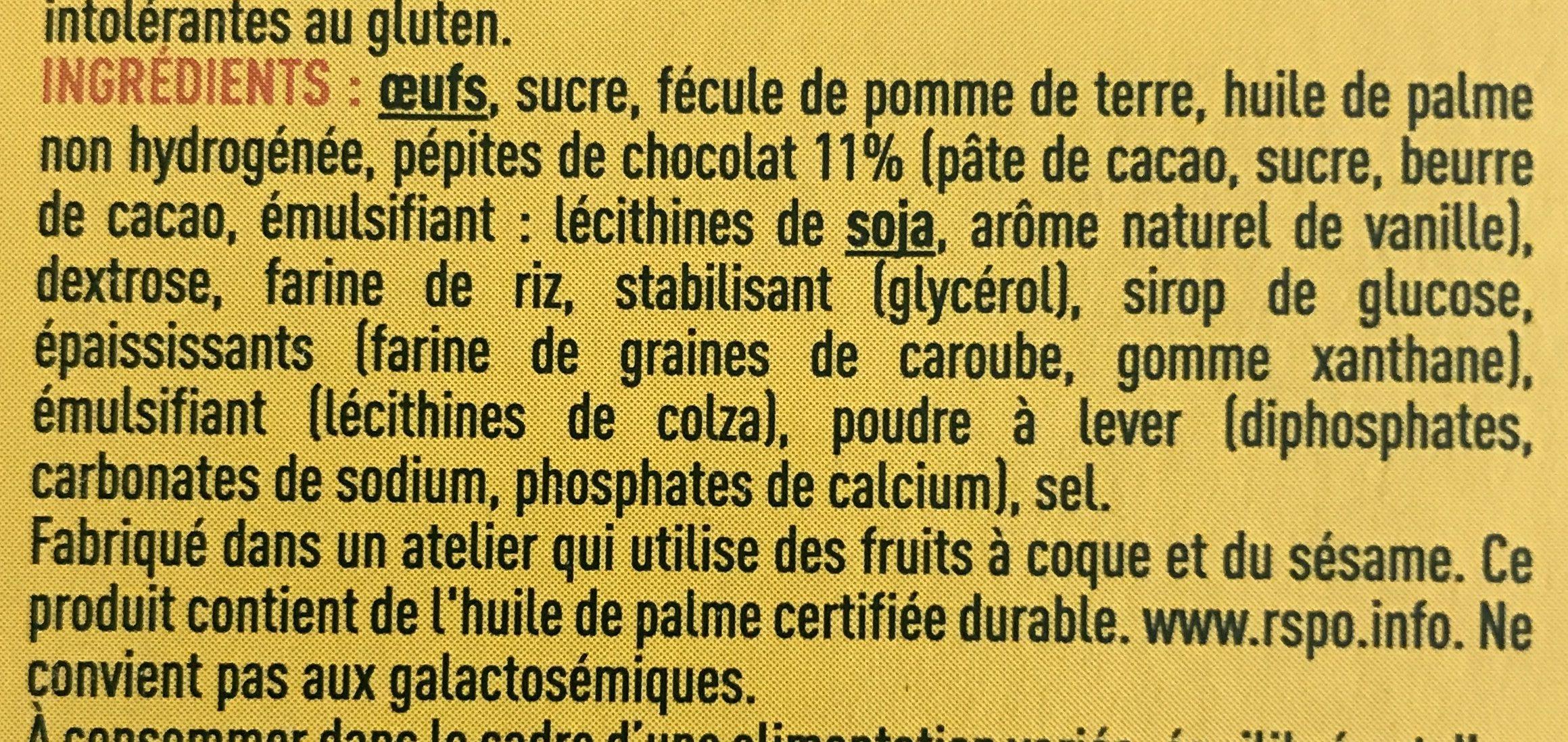 Mini Pépites choc' - Ingrediënten