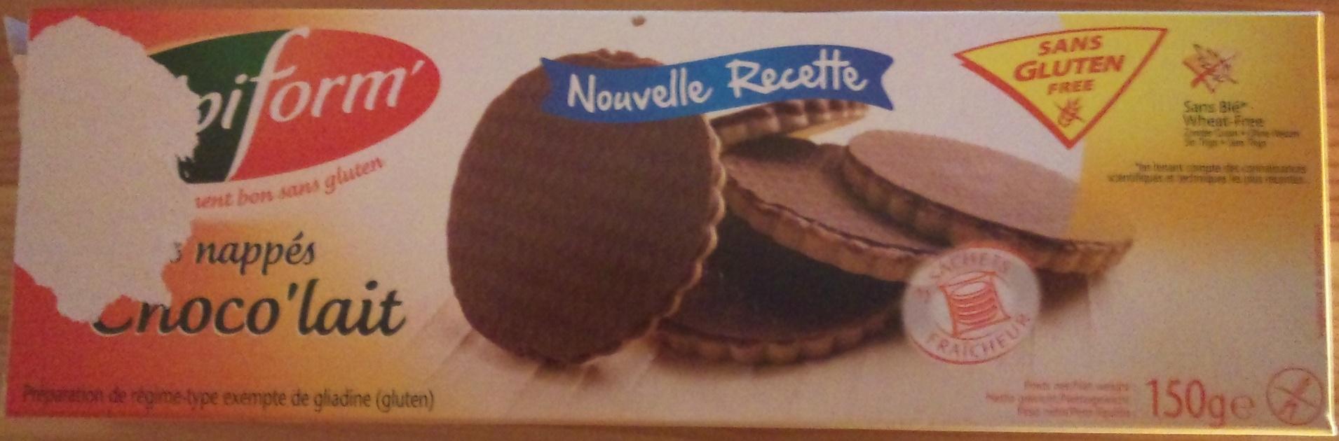 Biscuits nappés choco'lait - Produit - fr