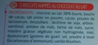 Biscuits nappés choco'lait - Ingrédients - fr