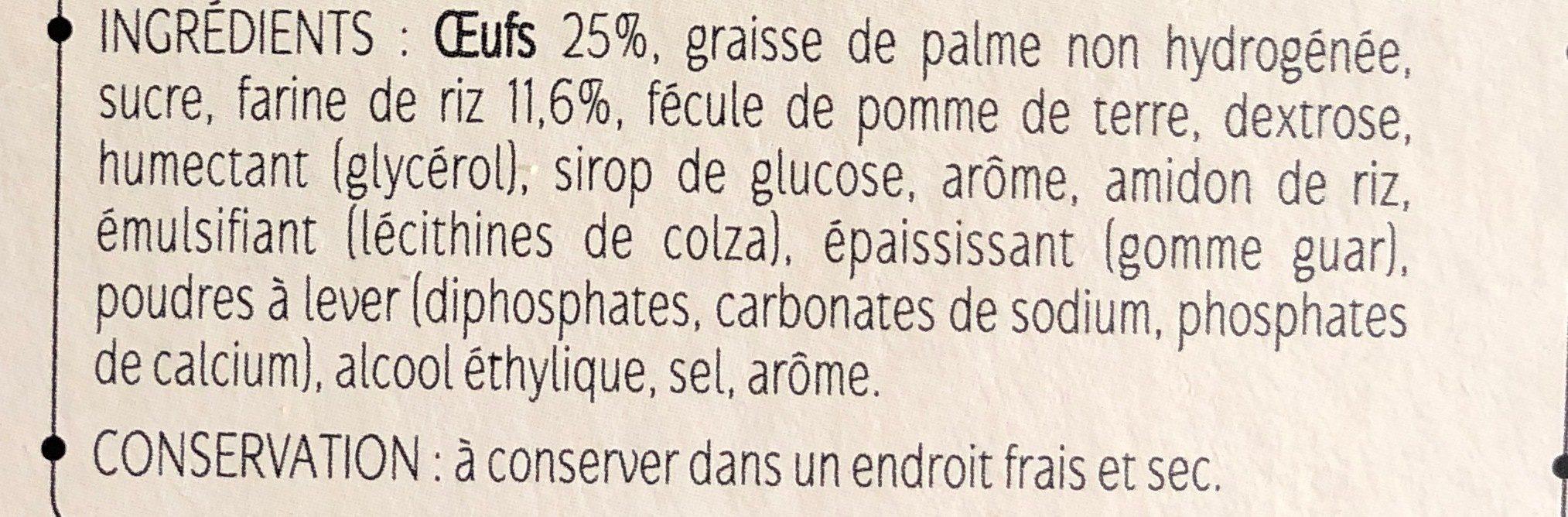 Madeleines type sans gluten - Ingrédients - fr