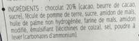 Biscuits nappés au chocolat noir - Ingrediënten - fr