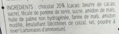 Biscuits nappés au chocolat noir - Ingrediënten