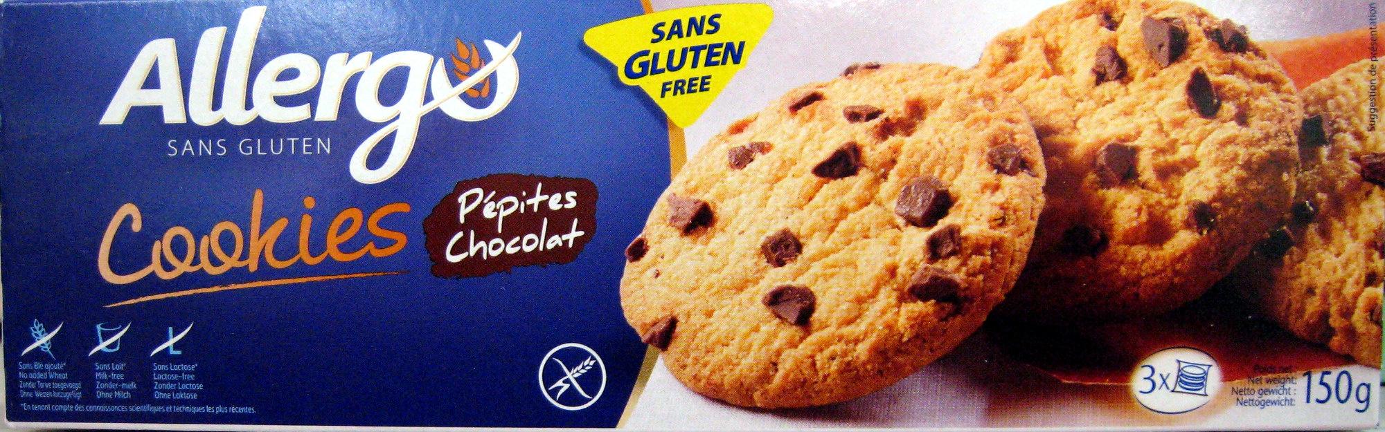 Cookies pépites chocolat sans gluten Allergo - Product
