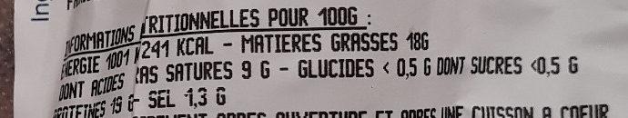 Andouillette supérieure label Rouge - Informations nutritionnelles