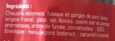 Andouille de vire - Ingredients - fr