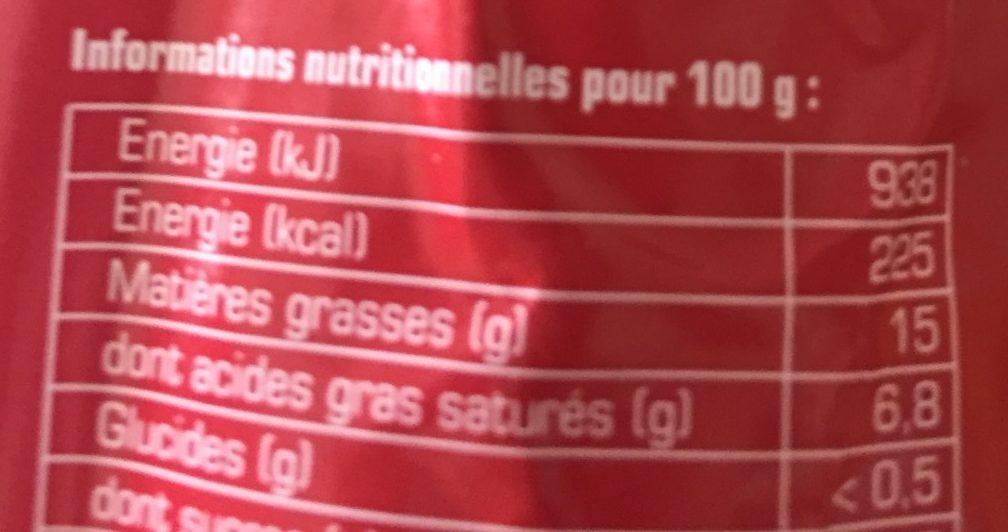 Andouille de vire - Nutrition facts