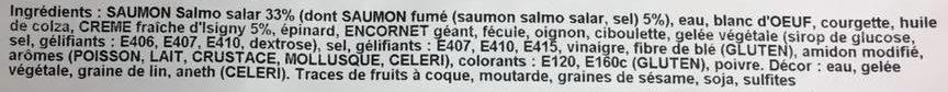 Charlotte de Saumon Fumé à la Crème d'Isigny - Ingrediënten - fr