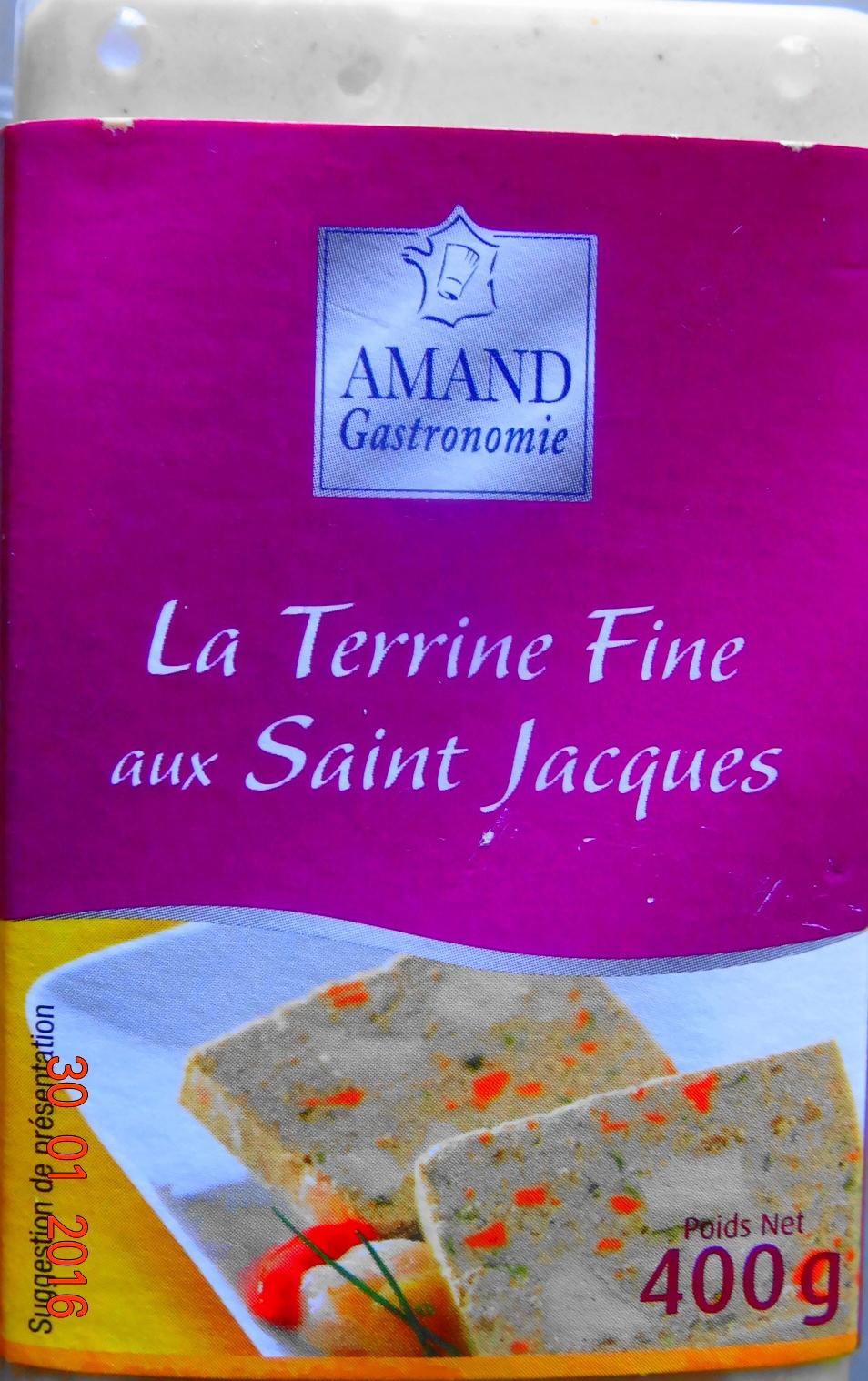 La Terrine Fine aux Saint Jacques - Produit