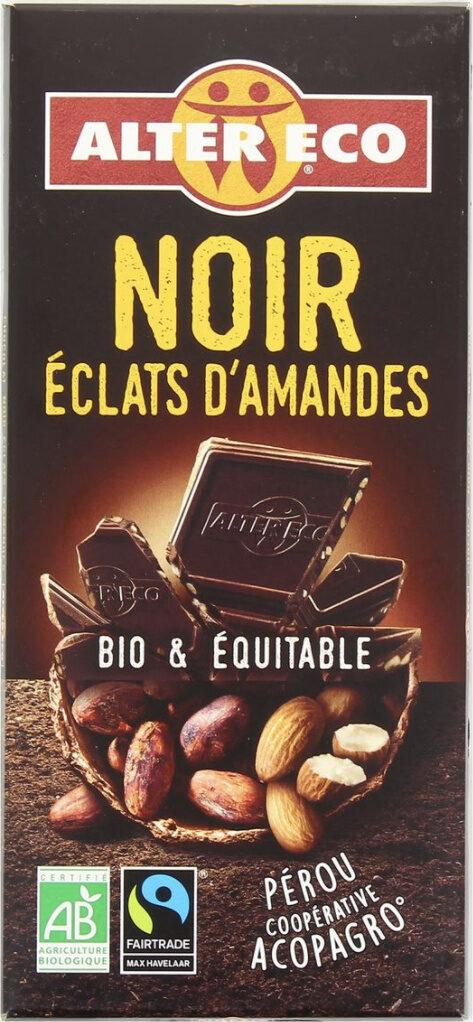Chocolat noir aux éclats d'amandes - Product - fr