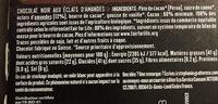 Chocolat noir aux éclats d'amandes - Ingrediënten - fr