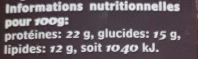 Cacao Poudre Bio - Informations nutritionnelles - fr