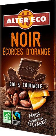 Chocolat noir aux écorces d'orange - Produit - fr