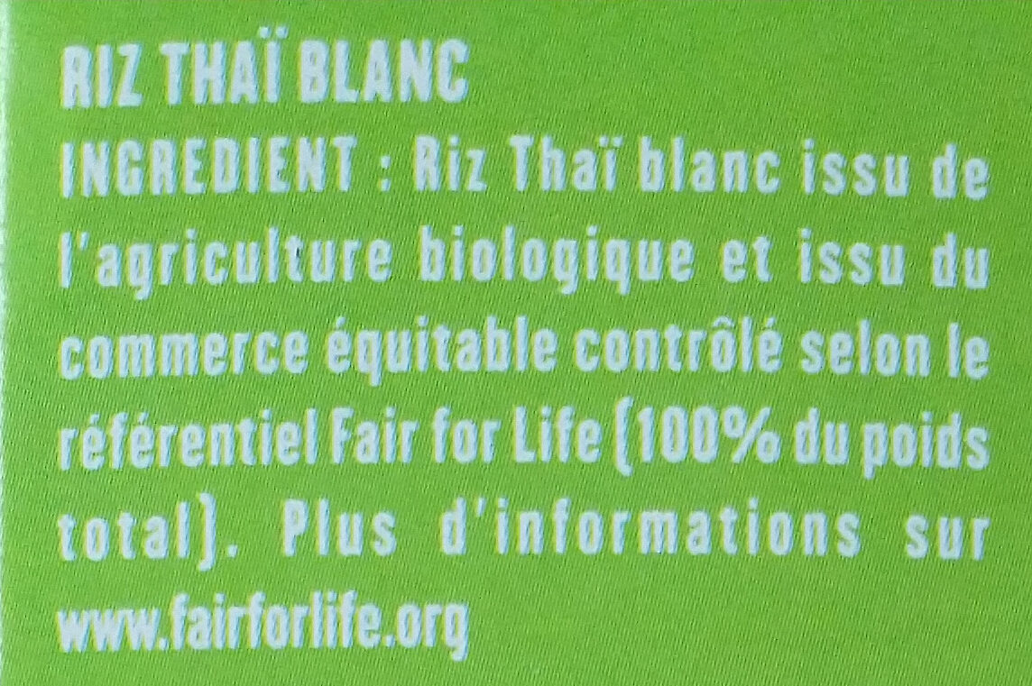 Riz thaï - Ingredients - fr