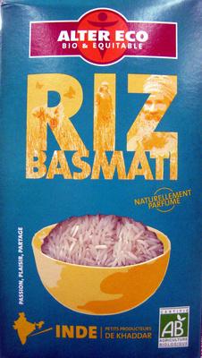 Riz Basmati Bio et Ethiquable Alter Eco - Produit