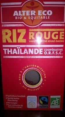 Riz rouge - Product - fr