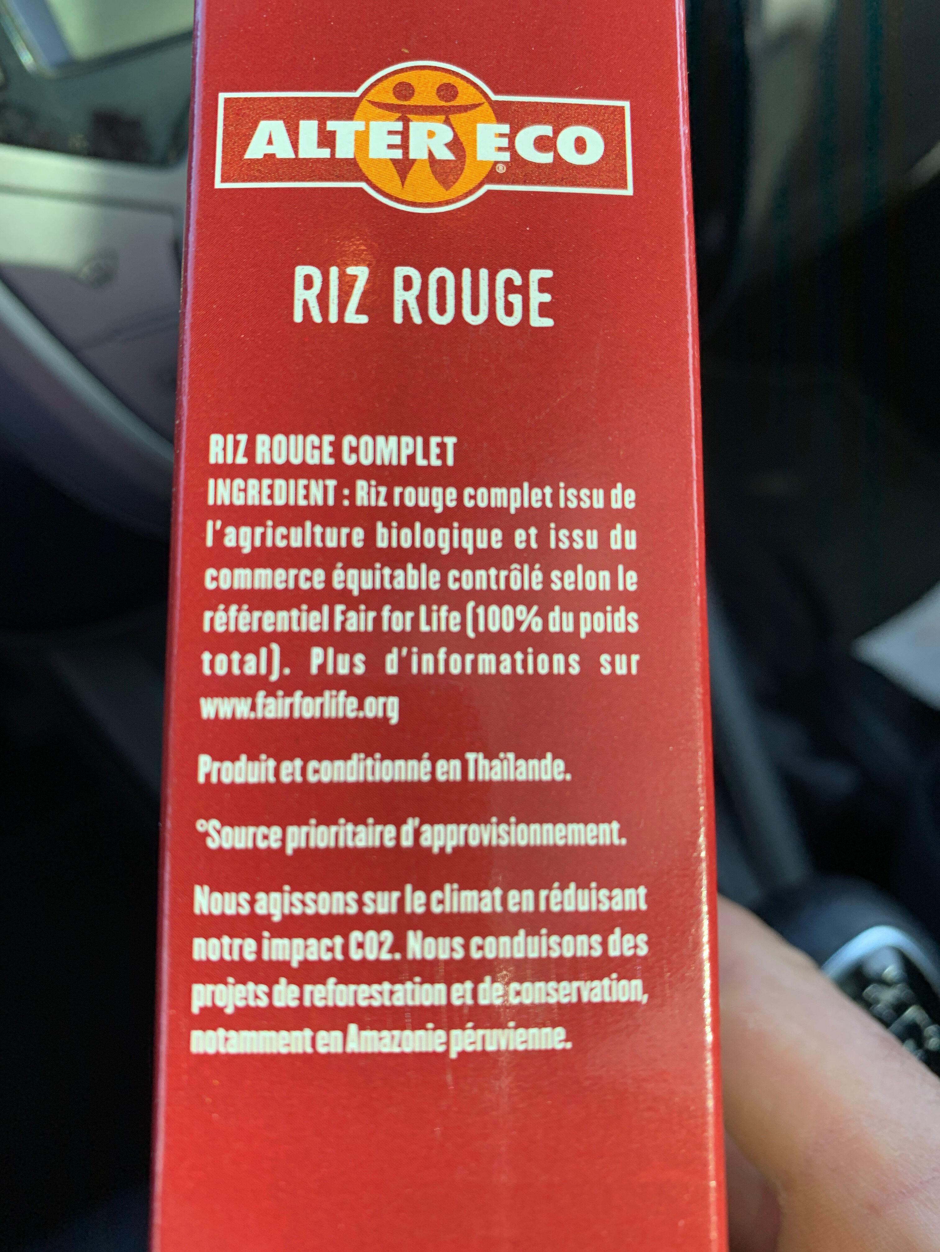 Riz rouge - Ingrediënten - fr
